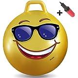ウォーキートイズ大人用ホッパーボール(ヒップホップボール ホッピングボール ホッピティホップボール 弾球ボールハンドル黄色ボールペン付)