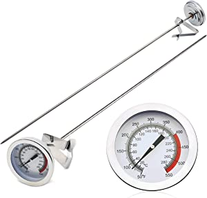 KT THERMO Cooking Thermometer for Deep Fry with 15'' Stainless Steel Food Grade Probe and Clip, Fast Instant Read 2