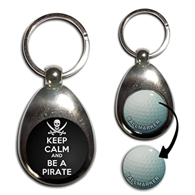 Amazon.com: Keep Calm y ser un Pirata – marcador para pelota ...