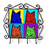 Belgian Sheepdog, clothes hanger with an image of a dog, Andy Warhol Style