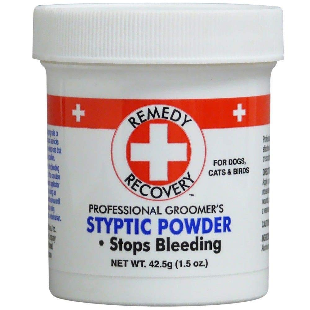 Remedy & Recovery Groomer's Styptic Powder 42.5g.(1.5 oz) Stops Bleeding for Pets