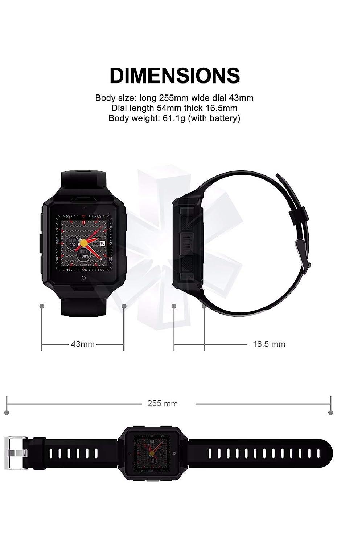 Amazon.com: Reloj inteligente M9 4G 850 mAh batería ROM1G+ ...