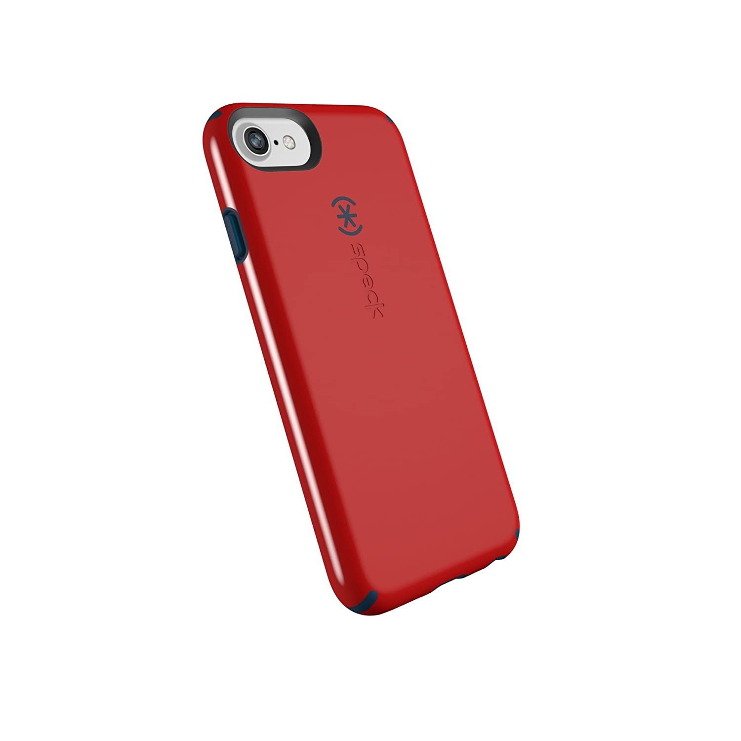 buy online 7bf68 3f60b Speck Products CandyShell Cell Phone Case for iPhone 8/7/6S/6 - Dark Poppy  Red/Deep Sea Blue