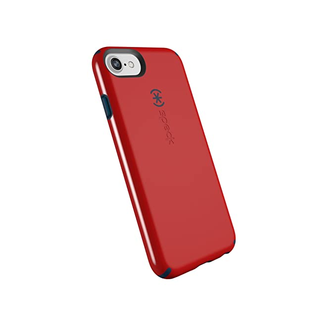 Speck Products CandyShell Cell Phone Case for iPhone 8/7/6S/6 - Dark Poppy  Red/Deep Sea Blue