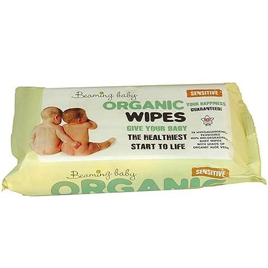 5 opinioni per Beaming Baby Salviette Biodegradabili Umidificate con Aloe Vera per Neonati (72