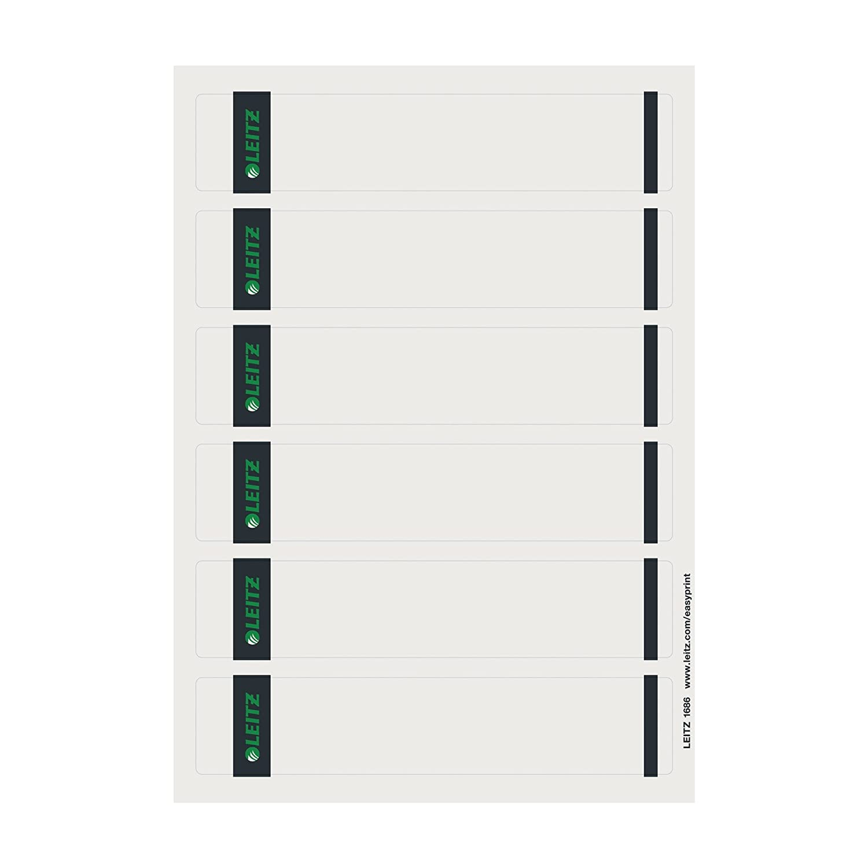 Leitz EasyPrint - Etiquetas para lomo de archivadores de palanca estrechos (para imprimir con ordenador, 100 unidades), color gris: Amazon.es: Oficina y ...