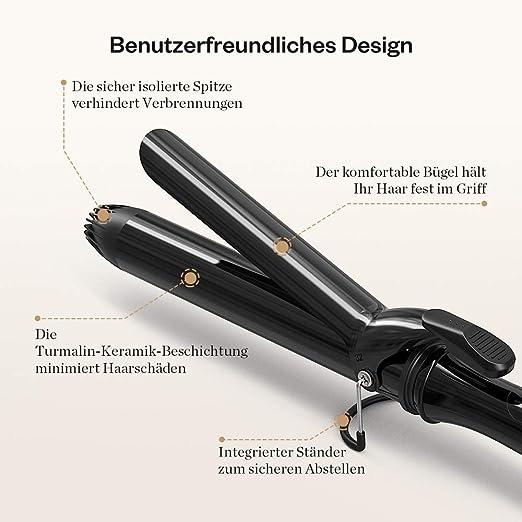 Anjou rizador 32 mm Con Revestimiento De Cerámica y turmalina, 650 g: Amazon.es: Belleza