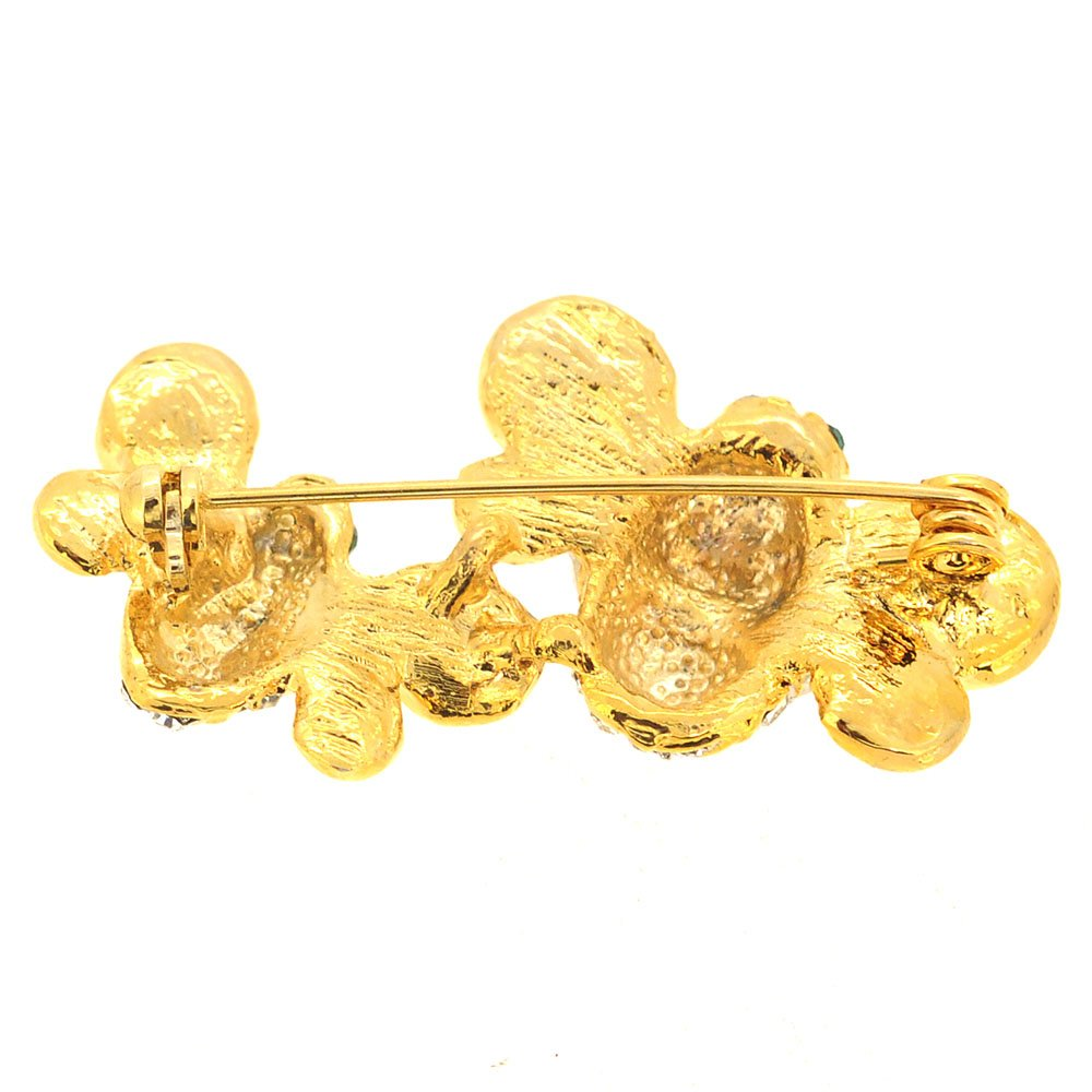 Fantasyard Golden Bee Couple Pin Brooch