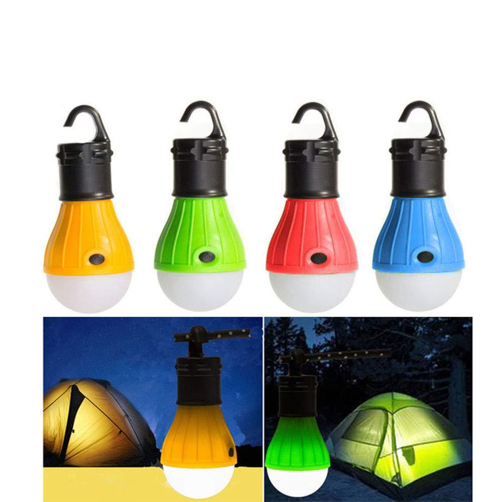 Youtree LED Camping Lantern, 4 Pack Portable Outdoor Tent Light Emergency Light Bulb for Camping, Hiking, Fishing, Hurricane Light
