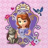 Disney Sofia The First Beverage Napkins Princess Birthday Party Tableware (16 Pack), Purple, 5