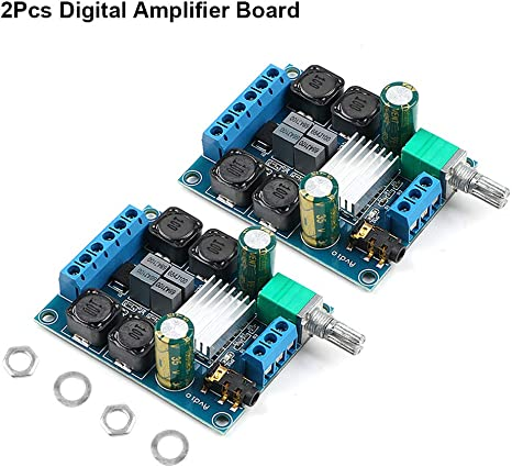 DC 12V~24V 2x80W TPA3116D2 Dual-Channel Stereo Digital Power Amplifier AMP Board