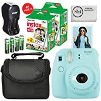 Fuji Instax Mini 9 + Carry Case + Rechargeable AA...
