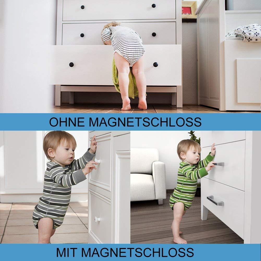 12 Serrures et 3 Cl/és Securite Placard Enfant Verrous magnetique Invisibles Aucun Outil ou Forage Requis Telgoner Bloc Porte Securite Bebe