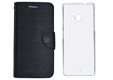reputable site ee576 062bc Colorcase Flip Cover Case for Reliance Jio Lyf Wind 4: Amazon.in ...