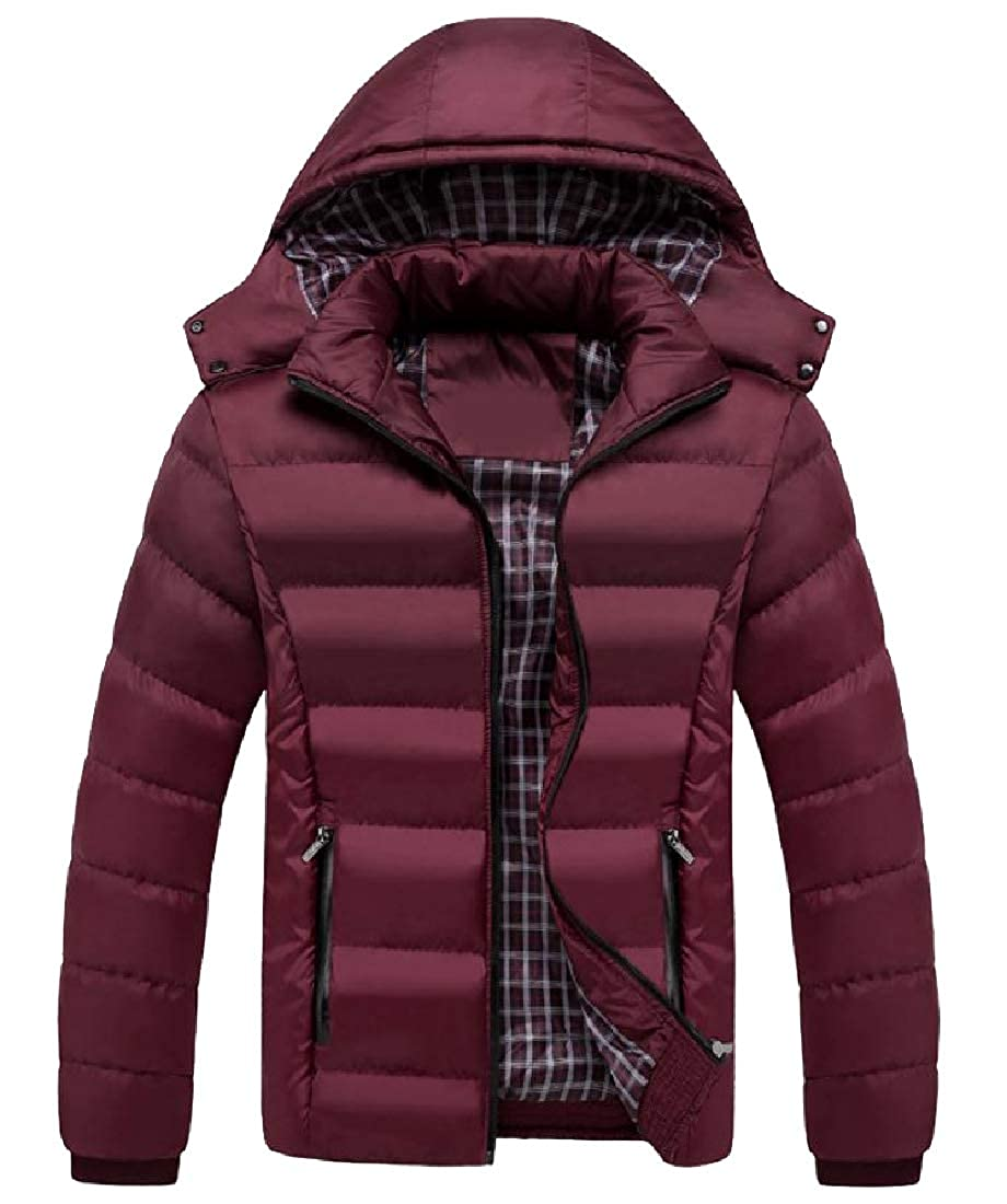 Zimaes-Men Oversized Water-Resistant Puffy Jacket Big and Tall