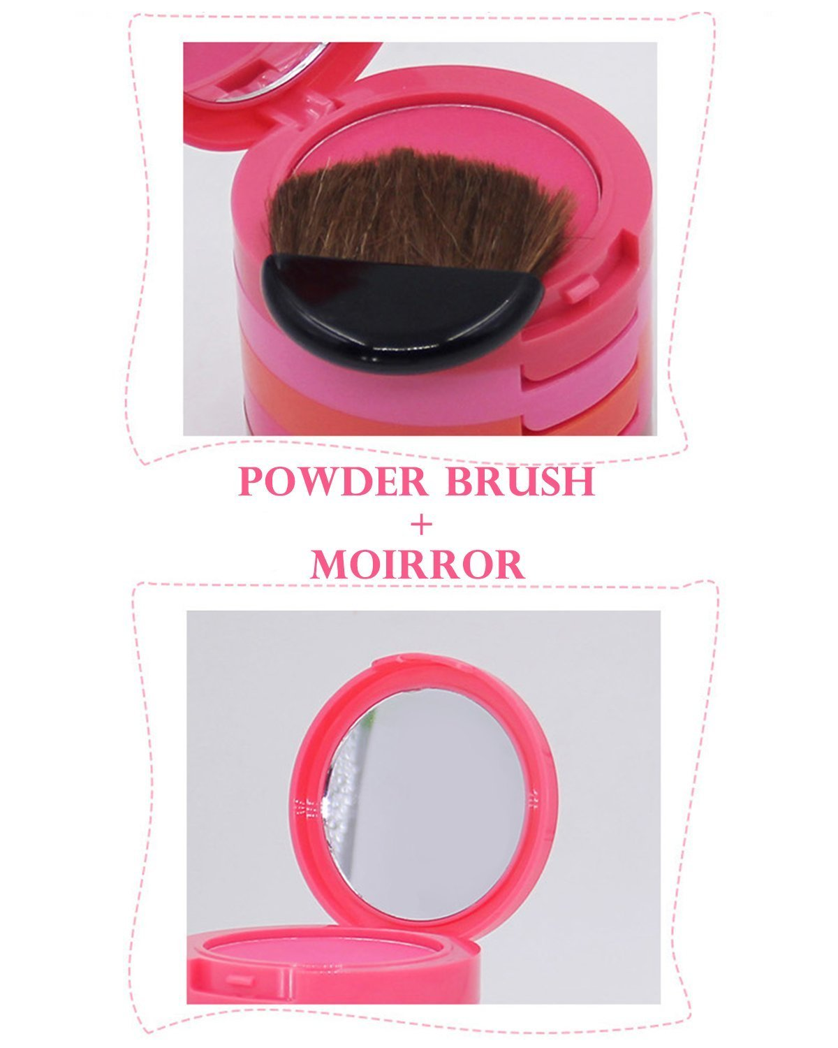Ucanbe Waterproof 5 Colors Blusher Palette With Blush Brush by UCANBE (Image #9)