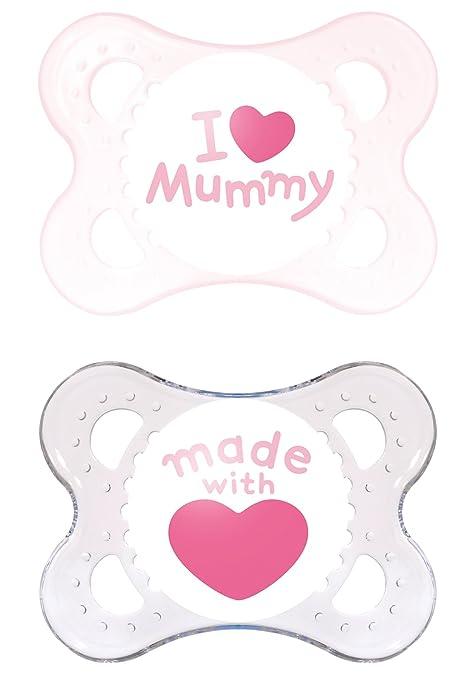 130 opinioni per MAM Babyartikel, MAM 66735022 Original Succhietto in silicone 0-6 Mesi, I love