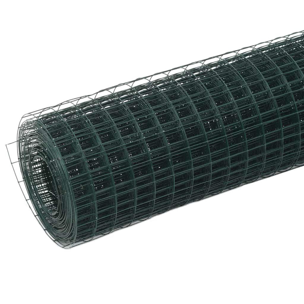 Festnight Malla de Alambre para Jardin de Acero Recubrimiento PVC con Mallas Cuadradas 10x1,5 m Verde
