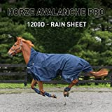 Horze Avalanche 1200D Turnout sheet Peacoat Dark Blue 72