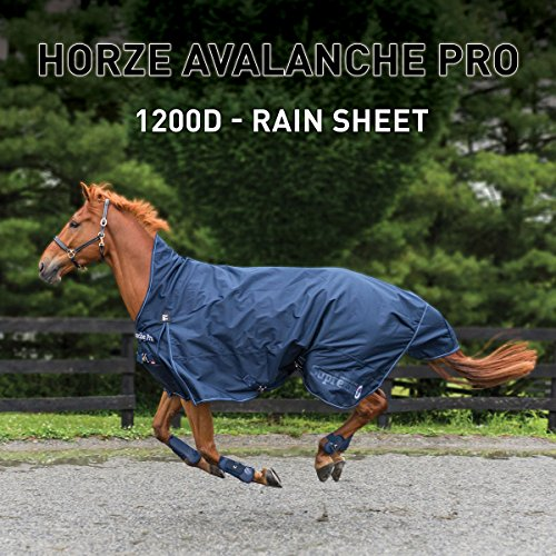 Horze Avalanche 1200D Turnout sheet Peacoat Dark Blue 72 by Horze