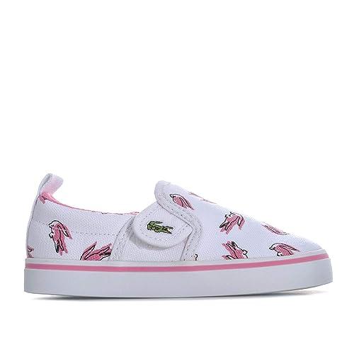 Lacoste - Zapatillas para niña, Color Blanco, Talla 26,5 EU Niño: Lacoste: Amazon.es: Zapatos y complementos