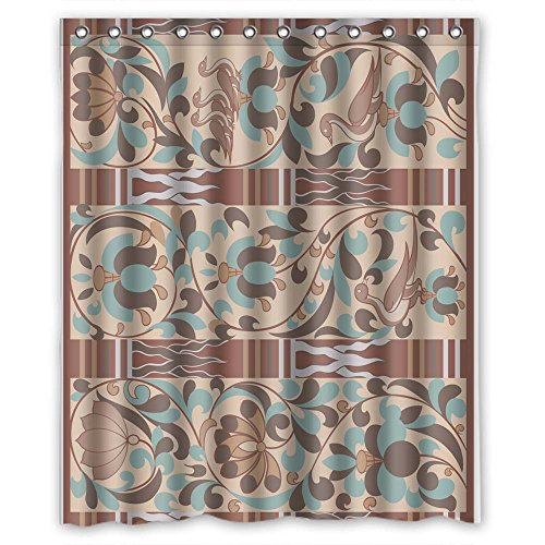 - Eyeselect Geometry Polyester Bath Curtains Width X Height / 60 X 72 Inches / W H 150 By 180 Cm For Birthday Couples Him Mother Hotel. Healthy. Fabric Material