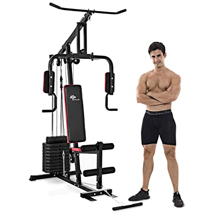 Amazon.com : goplus multifunction home gym system weight training