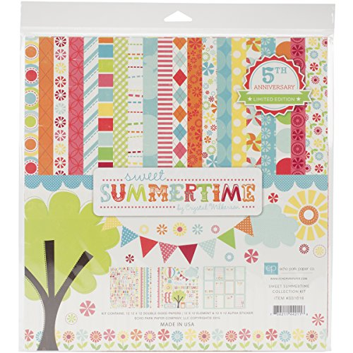Echo Park Paper Company Sweet Summertime Collection Kit for Scrapbooking