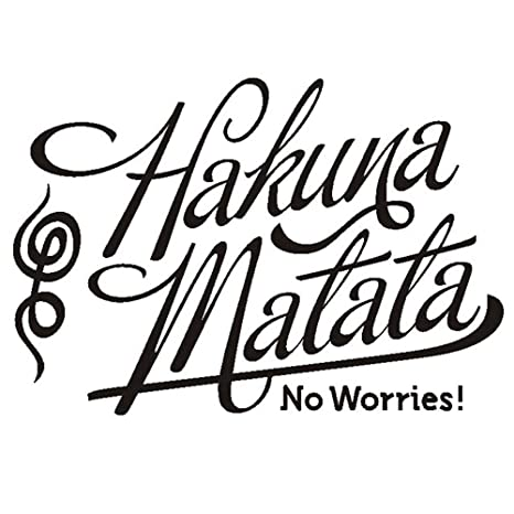 DNVEN Black 22 inches x 14 inches Hakuna Matata No Worries Home Vinyl Wall  Decals Quotes Sayings Words Arts Decors Letterings Vinyl Wall Arts