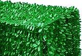 By ADD&SHIP Leaf Petal Taffeta Tablecloth 90''x132'' Rectangular (Green)