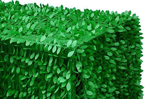 By ADD&SHIP Leaf Petal Taffeta Tablecloth 90''x132'' Rectangular (Green) by ADD&SHIP