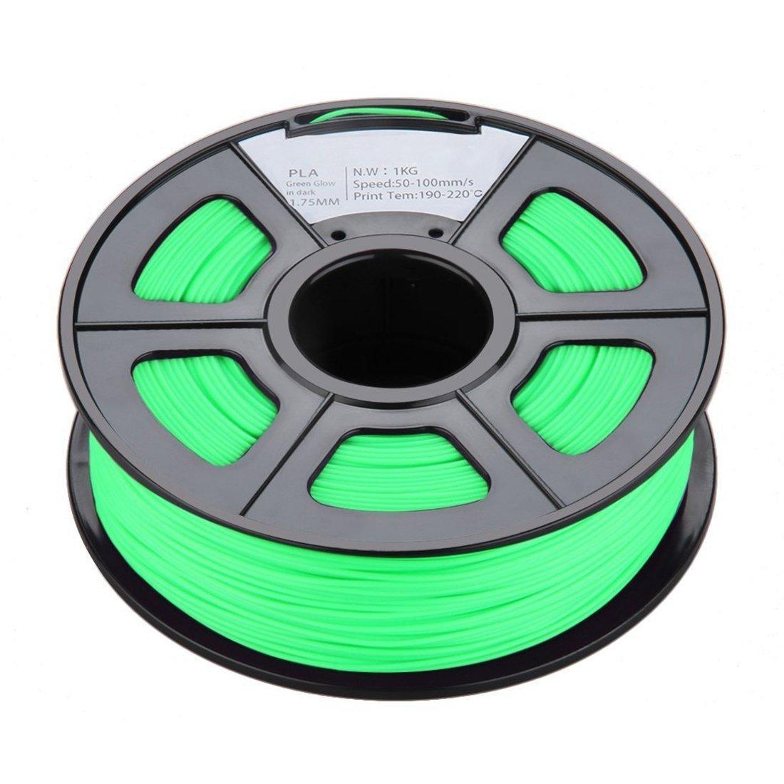 SODIAL 1.75mm Brillan en la Oscuridad Filamento de Impresora 3D ...