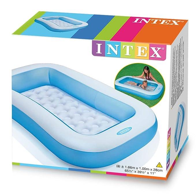Intex 57403NP - Piscina hinchable rectangular 166 x 100 x 28 cm, 90 litros
