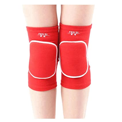 04be4c5e7e Amazon.com: George Jimmy Exercise & Fitness Knee Brace Yoga/Dance/Joint  Pain Knee Pads L Red: Sports & Outdoors