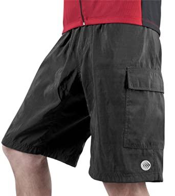 Amazon.com: Men's 8-Inch Inseam Cargo Cycling Short - Baggy Padded ...