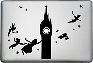 WallDecalsAndArt Peter Pan Silhouette Characters Apple MacBook Pro Sticker Decal is a of The Adventures of Peter Pan Tinkerbell Sticker Decal. Laptop Sizes 11, 12, 13 and 15 inch. Many Colors-Black