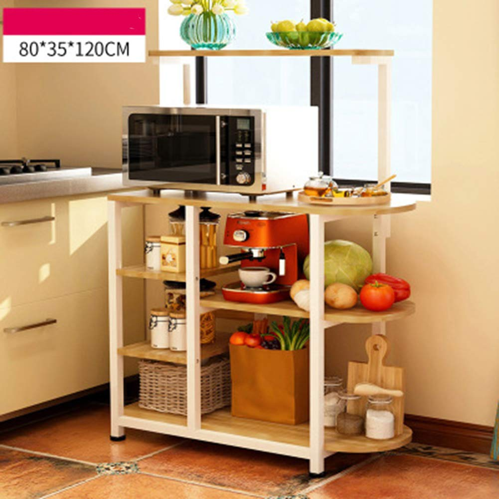 TISESIT INDOOR Kitchen Racks Microwave Ovens Kitchenware Floor-Standing Multi-Layer Seasoning Storage Rack Storage Oven Stand,C by TISESIT INDOOR
