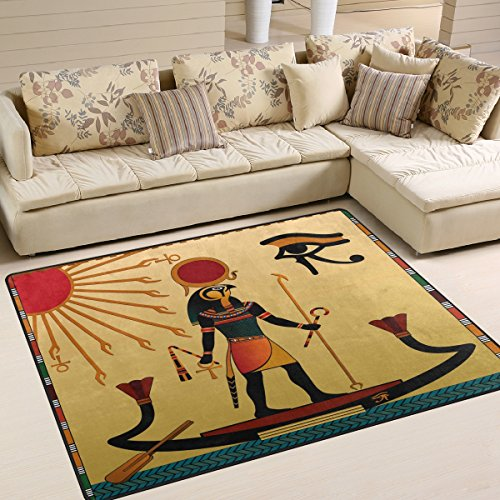 ALAZA Ancient Egyptian Artwork Area Rug Rugs for Living Room Bedroom 5'3