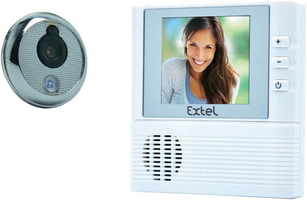 CFIEX Extel Lilly - Portero automático con vídeo con mirilla para puerta (a color, pantalla de 2,8'')