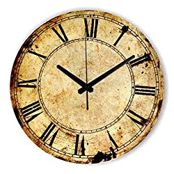 liveleafa Retro Wall Decoration Watch Vintage Home Decoration Wall Clock With Roman Number Silent Decorative Wall Clock For Study Room style 2 16inch 40cm