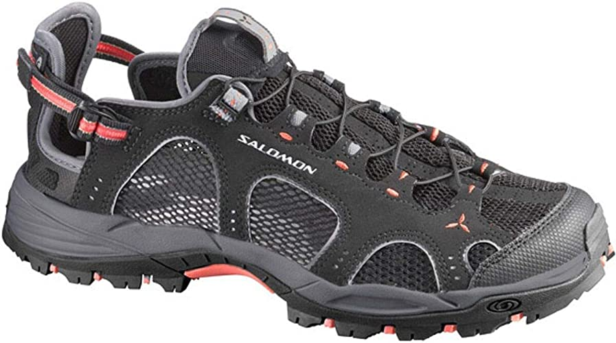 Salomon Techamphibian 3 - Sandalias deportivas para mujer, Black (Black/Dark Cloud/Papaya-B), 38 EU: Amazon.es: Zapatos y complementos