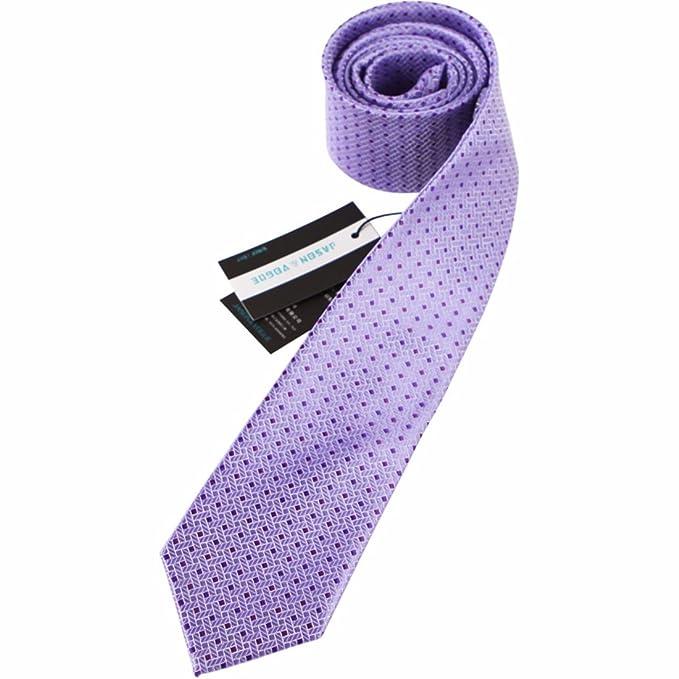 9cm lavanda Violeta Lunares cuadros corbata Diseño clásico corbata ...