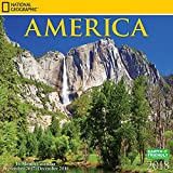 National Geographic America 2018 Calendar, NatGeo USA United States Scenic Nature Photography