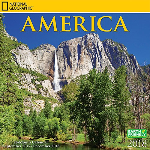 National Geographic America 2018 Calendar, NatGeo USA United States