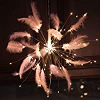 BSMEAN LED Fairy Lights Feather Starburst Lights LED