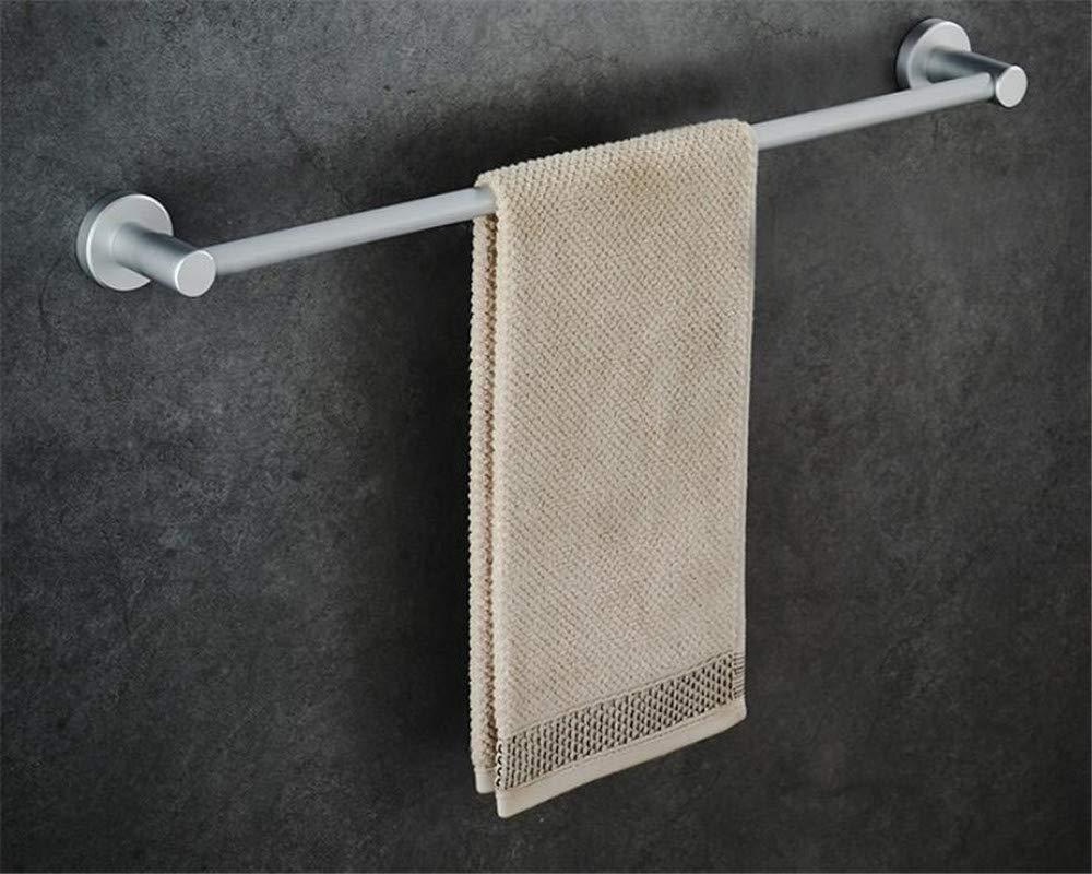 XJ&DD Single Pole Towel Rail,Self Adhesive Wall-Mounted Towel bar,Space Aluminum Rust Towel Rack for Bathroom Kitchen Office.Punch-C 50cm(20inch)