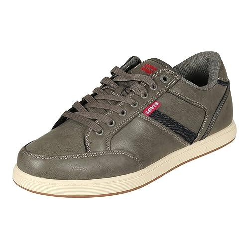 Mens Beyers Low-Top Sneakers, Black Levi's