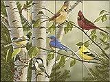 Ceramic Tile Mural - Summer Friends- by William Vanderdasson - Kitchen backsplash / Bathroom shower