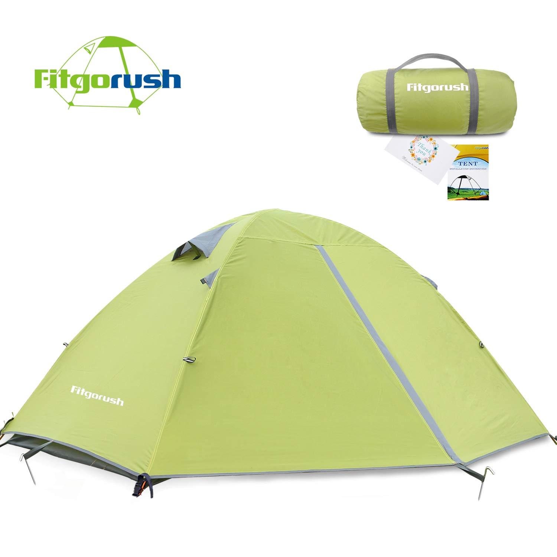 Fitgorush Zelt 2 Mann Personen, Professionelles Wasserdicht Campingzelt, Ultraleicht Trekkingzelt Doppelwandig Kuppelzelt Outdoor Zelt, mit Tragetasche für Camping Wandern Klettern