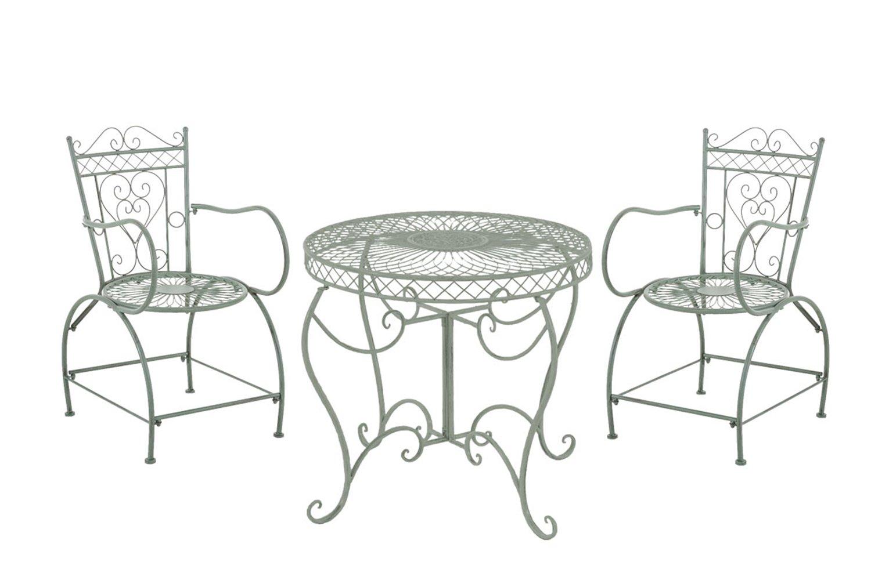 SSITG Sitzgruppe SHEELA Bistroset Gartenmöbel Tisch & 2x Stühle ...